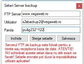 setari server ftp baza de date
