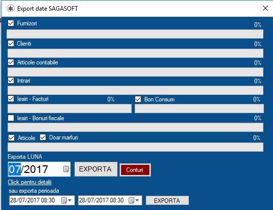 export in saga din contabilitate primara s2s