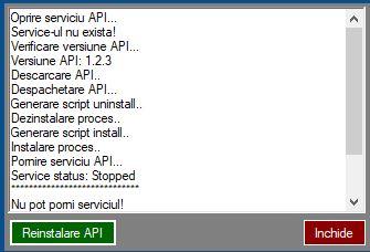 reinstalare S2S API