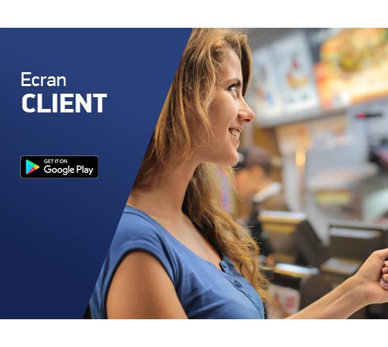 ecran client pentru comenzi